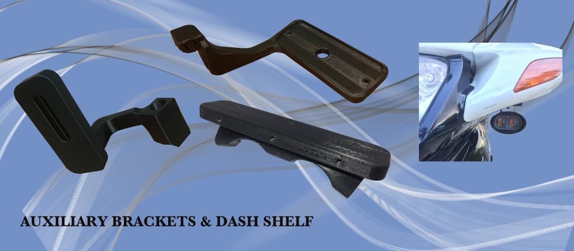 AUXILIARY BRACKETS & DASH SHELF