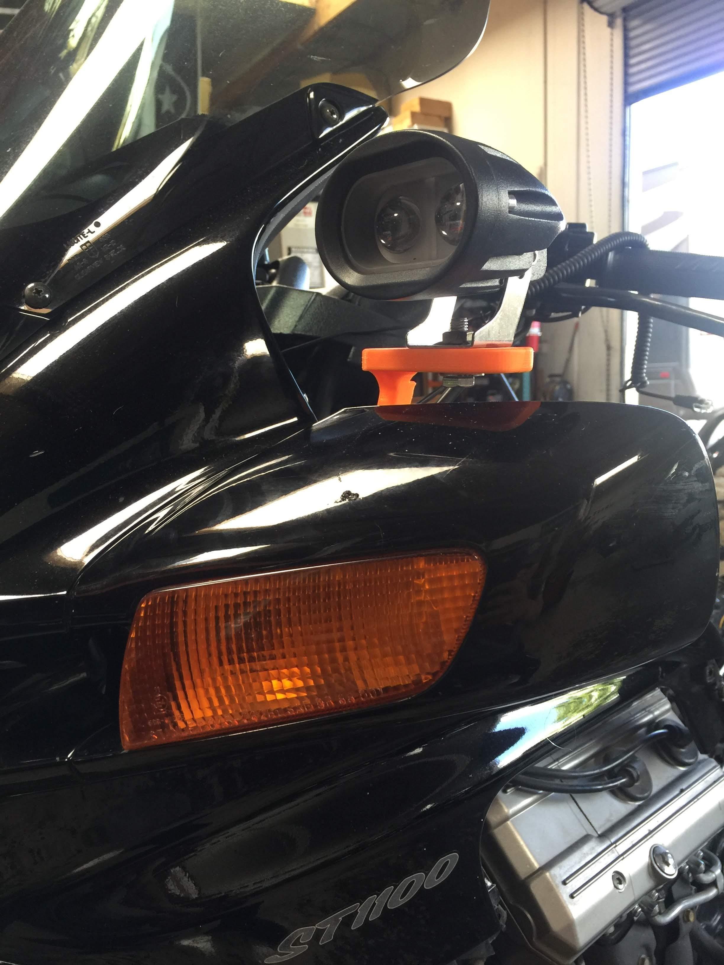 ST1300 Over Mirror Auxiliary Light Bracket