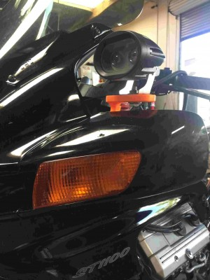 ST1100 Over Mirror Auxiliary Light Bracket